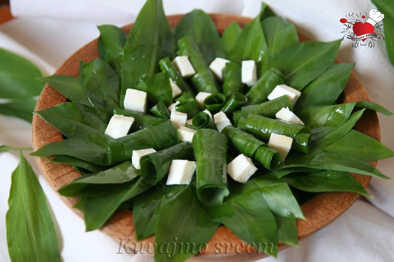 Sremuš salata sa kozjim sirom